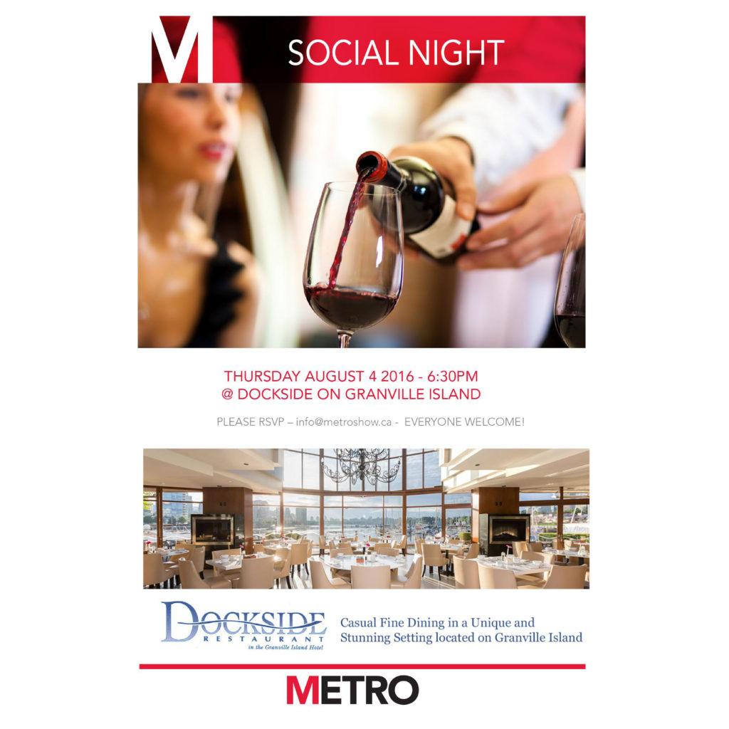 RSVP For Metro Social Night Aug 4, 2016!